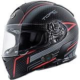 Torc T14B Blinc Loaded Scramble Mako Full Face Helmet (Flat Black with Graphic, XX