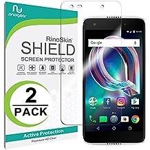 [2-PACK] Alcatel Idol 5 Screen Protector (Edge-to-Edge) [Military-Grade] RinoGear Premium HD Invisible Clear Shield Anti-Bubble
