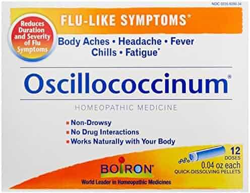 Boiron Oscillococcinum, for Flu-like Symptoms, 12 Count/0.04 Oz each