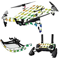 MightySkins Skin for DJI Mavic Air Drone - Rainbow Pineapples | Max Combo Protective, Durable, and Unique Vinyl Decal wrap cover | Easy To Apply, Remove, and Change Styles | Made in the USA