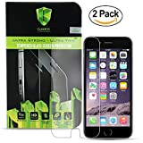 "Iphone 7 6 6s Screen Protector Tempered Glass (4.7"") Shock Absorbent, Drop Fall Protection, Anti-Scratch, Fingerprint Proof- Ultra Thin HD (2 Pack) Apple Protection"
