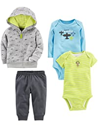 Baby Boys' 4-Piece Jacket, Pant, and Bodysuit Set