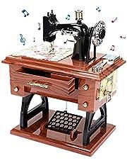 Vintage Muziekdoos Mini Naaimachine Stijl Mechanische Muziekdoos Cadeau voor Verjaardag Kerst Valentijnsdag Woondecoratie Ambachten
