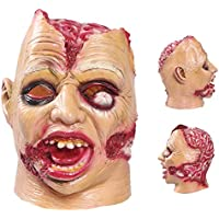 Halloween Mask AmyHomie Halloween Cosplay Costume Party Decorations Vampire Zombie Horror Scary Masks Clown Mask with hair Latex head mask
