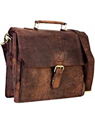 cuero 14 Leather Office Bag Vintage Leather Messenger Satchel Briefcase Bag for Mens and Women Leather Laptop...