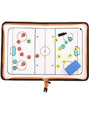 CVERY - Lavagna Magnetica per Allenamento di Hockey, in Pelle Sintetica, Pieghevole, per Sport Tattici di Squadra, con Cerniera