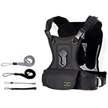 Cotton Carrier Single Camera Vest System for Canon EOS Rebel T5i, T3, T3i, T4, T4i, T2i, T1i, EOS 1D MARK III, 1D MARK IV, 1DS MARK II, SL1, 5D, 7D, 20D, 30D, 40D, 50D, 60D, 70D, XS, Xsi, Xti SLR Cameras + FREE Hand Strap
