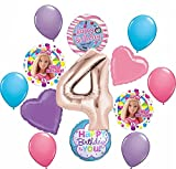 Barbie 4th Birthday Party Supplies Balloon Bouquet Decorations
