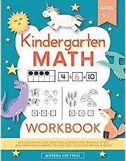 Kindergarten Math Workbook: Kindergarten and 1st Grade Workbook Age 5-7 | Homeschool Kindergarteners | Addition and Subtraction Activities + Worksheets