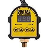 Automatic Digital Pressure Controller ON OFF Switch 220V For Water Ail Gas Pump by Advanced Shop