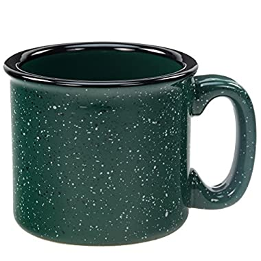 Santa Fe Ceramic Campfire Coffee Mug Fleck Forest Green 12 oz.