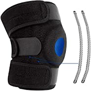 Knee Brace Knee Support for Men Women, Breathable Knee Stabilizer & Elastic Compression for Knee Stability