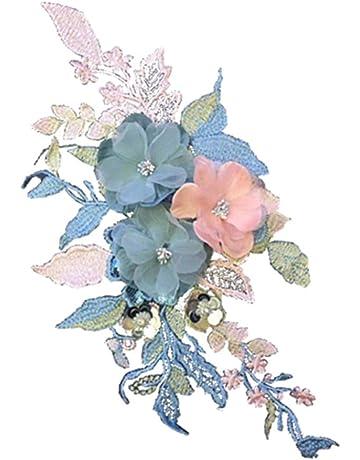DaoRier Tridimensional Flor Patch Stickers para Decoración Grandes Parches Ropa Termoadhesivos para la Camiseta Jeans Vestidos