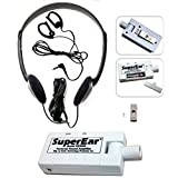 SuperEar Personal Sound Amplifier Model SE5000 (New Improved Model SE4000) Increases Ambient Sound Gain 50dB, CMS/ADA Compliant Assistive Listening Device.