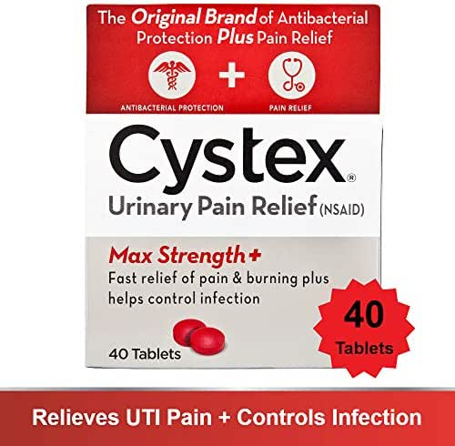 Cystex Urinary Pain Relief Tablets | Fast UTI Treatment | Controls Frequent Urination | Keeps Urinary Tract Infection from Worsening | 40 Tablets