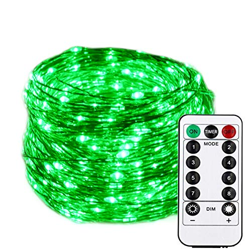 HAHOME Dimmable Christmas String Lights, Waterproof Fairy Lights, Deco Rope Lights for Seasonal Decorative Holiday, Wedding, Parties(99Ft, 300LEDs, Green)