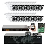 Cheap 5MP (2592x1920p) 32 Channel 4K NVR PoE IP Security Camera System – 24 x HD 2.8~12mm Varifocal Zoom 196ft IR IP Camera – 5 Megapixel (3,000,000 More Pixels Than 1080P, 300% More Detailed Than 720P)
