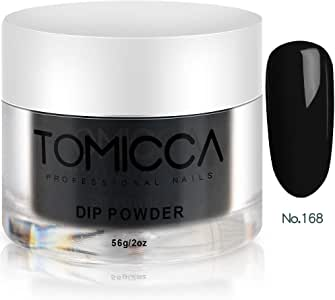 TOMICCA Acrylic Powder Dipping Powder for nails 2 Ounce (Black)