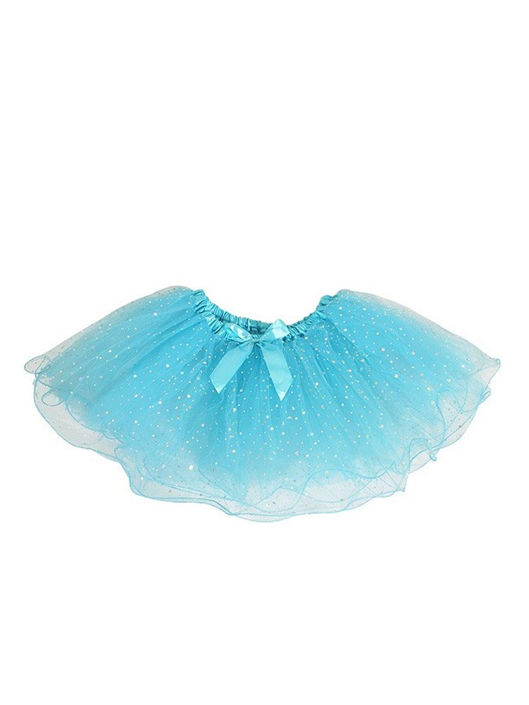 WonderfulDress Sparkling Tutu Skirt-Turquoise-One Size