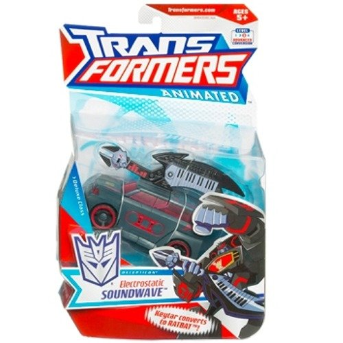 Transformers - Animated Animated Animated - Deluxe Class - DECEPTION - Electrostatic SOUNDWAVE - OVP 183f7f