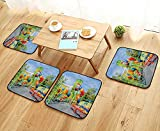 UHOO2018 Universal Chair Cushions Outdoor Playground in The Park Personalized Durable W15.5 x L15.5/4PCS Set