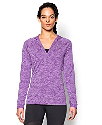 Under Armour Women\'s UA Tech Long Sleeve Hooded Henley Medium MEGA MAGENTA