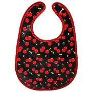 Cherry Print Baby Bib from Sourpuss Clothing