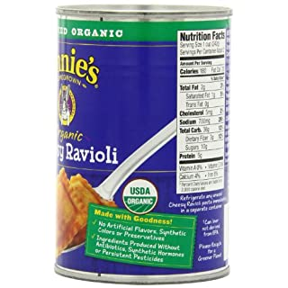 Annie's Organic Canned Pasta, Cheesy Ravioli in Tomato & Cheese Sauce, 15 oz (Pack of 12)