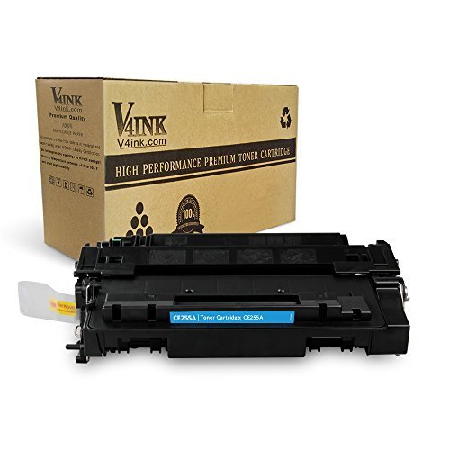 V4INK 1-Pack New Compatible Black CE255A Toner Cartridge for HP 55A HP LaserJet P3010 HP P3015 P3015d P3015dn P3015n P3015x HP Enterprise 500 MFP M521dn M521dw M525c M525dn M525f Printer