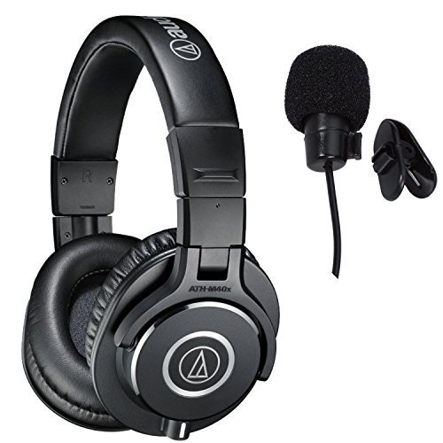Audio-Technica ATH-M40x Professional Studio Monitor Headphones Deluxe Bundle
