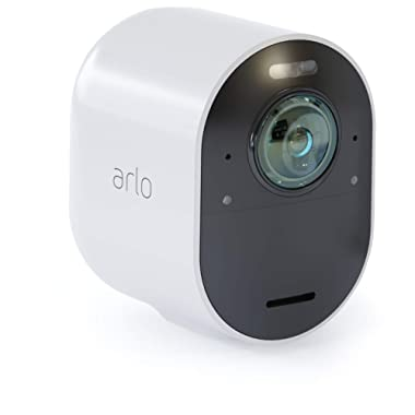 Arlo Ultra - 4K UHD Wire-Free Security Add-on Camera | Indoor/Outdoor Security Camera with Color Night Vision, 180° View | Requires an Ultra SmartHub, sold separately | Works with Alexa | (VMC5040)