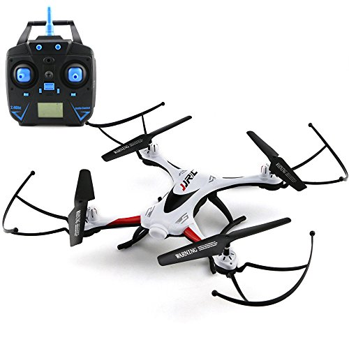 Intelligent Battery Long Control Range JJRC H31 Waterproof Headless Mode One Key Return 2.4G 4CH 6Axis RC Quadcopter RTF,Outdoor RC Flying Helicopter Replace RC Plane Toys for Beginner Adults (White)