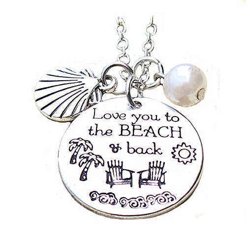 Inspirational Seashell Necklace Pendant For Woman Teen Girls Inscribed Love Beach Jewelry Prime (Holo 2 Costumes)