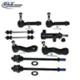 DLZ 8 Pcs Front Suspension Kit-Inner Outer Tie Rod End Sway Bar Idler Arm Bracket Assembly Pitman Arm Grooves Compatible with Chevrolet Silverado GMC Sierra 1500 2500 Yukon Tahoe, Cadillac Escalade