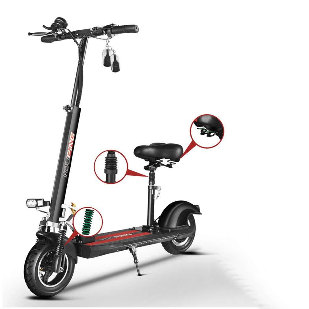 YHSFC Scooter eléctrico con Asiento de Dos Ruedas Plegable ...