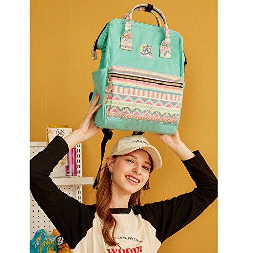 Studente Sweet Sister QI Ragazza Zaino Zaino Soft Borsa coreano da campus Zaino liceo viaggio Junior casual Verde da Ms universitario Borsa Trend Verde Colore Semplice Zaino DEI da wXtqdzz