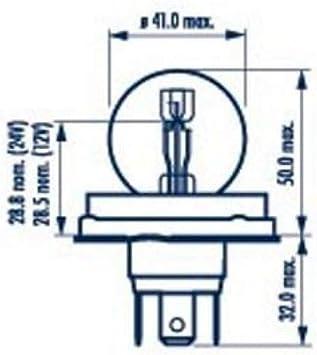 Narva Biluxlampe 12V 45//40W P45t Markenlampe