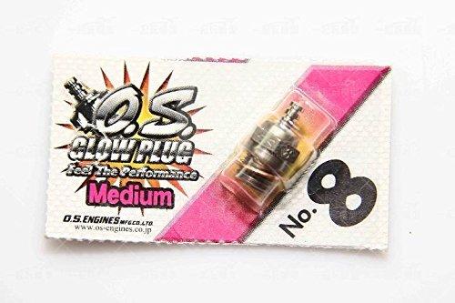 Happy Cow 100% Original O.S. OS8 OS 8 No. 8 8# Medium Glow Plug for RC Engine -