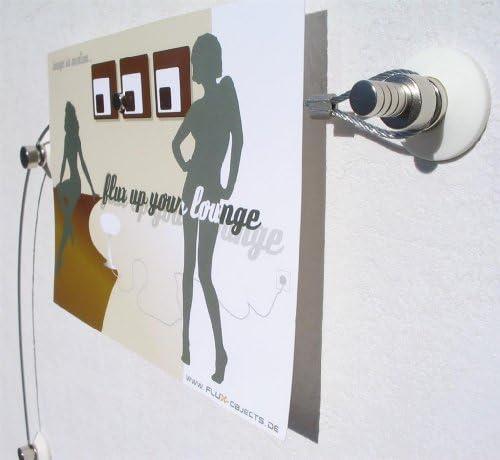 Fotoseil Fotoleine Foto-Stahl-Seil in 2 Meter mit 20 Magneten