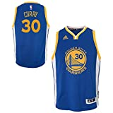 NBA Golden State Warriors Stephen Curry Boys Player Swingman Road Jersey, X-Large (18), Blue