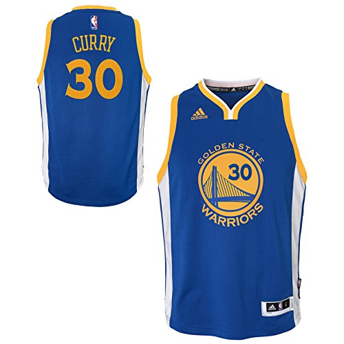 (Outerstuff NBA Golden State Warriors Stephen Curry Boys Player Swingman Road Jersey, X-Large (18), Blue)