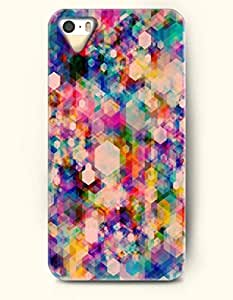 iPhone 5/5S Case, OOFIT Phone Cover Series for Apple iPhone 5 5S Case (DOESN'T FIT iPhone 5C)-- Colorful Geometric Pattern -- Rainbow Color Series