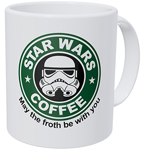 Wampumtuk Starwars May The Froth Be With You 11 Ounces Funny Coffee Mug ()