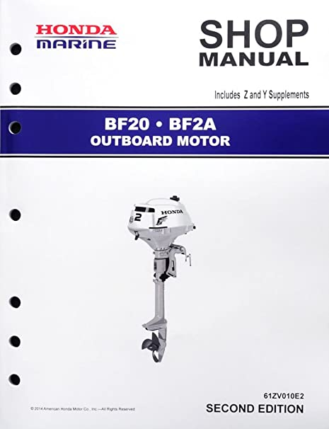 amazon com honda bf20 bf2 marine outboard motor service repair rh amazon com honda outboard motor manual model c40plrv honda 40hp outboard motor manual