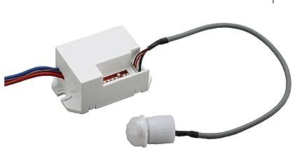 Mini PIR 360 grados detector de movimiento sensor interruptor empotrado universal montaje