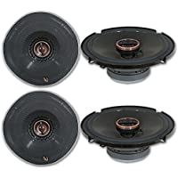 4 x Infinity REF-6522ex 6.5-inch 2-way Car Audio Shallow Mount Coaxial Speakers 6-1/2 6522ex