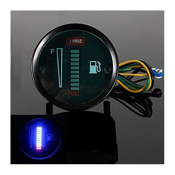 Generic Motorcycle Automobile Aluminum Alloy LED Fuel Level Meter Gauge