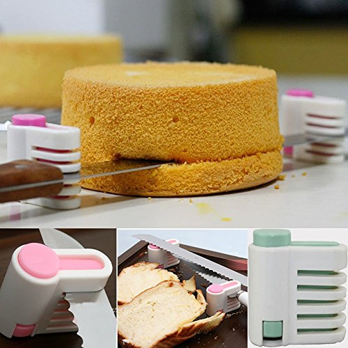 Checkout 1 Pair DIY Kitchen Tool Cake Cutter Leveler 5 Layer Slicer Cutting Fixator New online