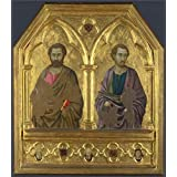 'ugolino di Nerio-Saint Simon and Saint Thaddeus (Jude),about 1324-5' oil painting, 12x14 inch / 30x35 cm ,printed on Perfect effect Canvas ,this Imitations Art DecorativePrints on Canvas is perfectly suitalbe for Foyer decor and Home gallery art and Gifts