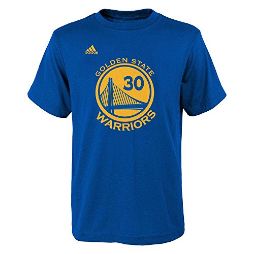 Stephen Curry Golden State Warriors Blue Youth Name and Number Jersey T-shirt Small 8